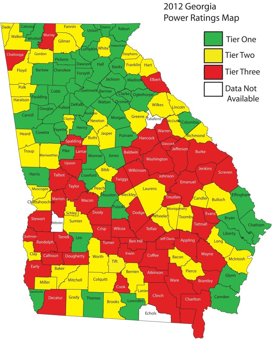 2012 Power Ratings Map