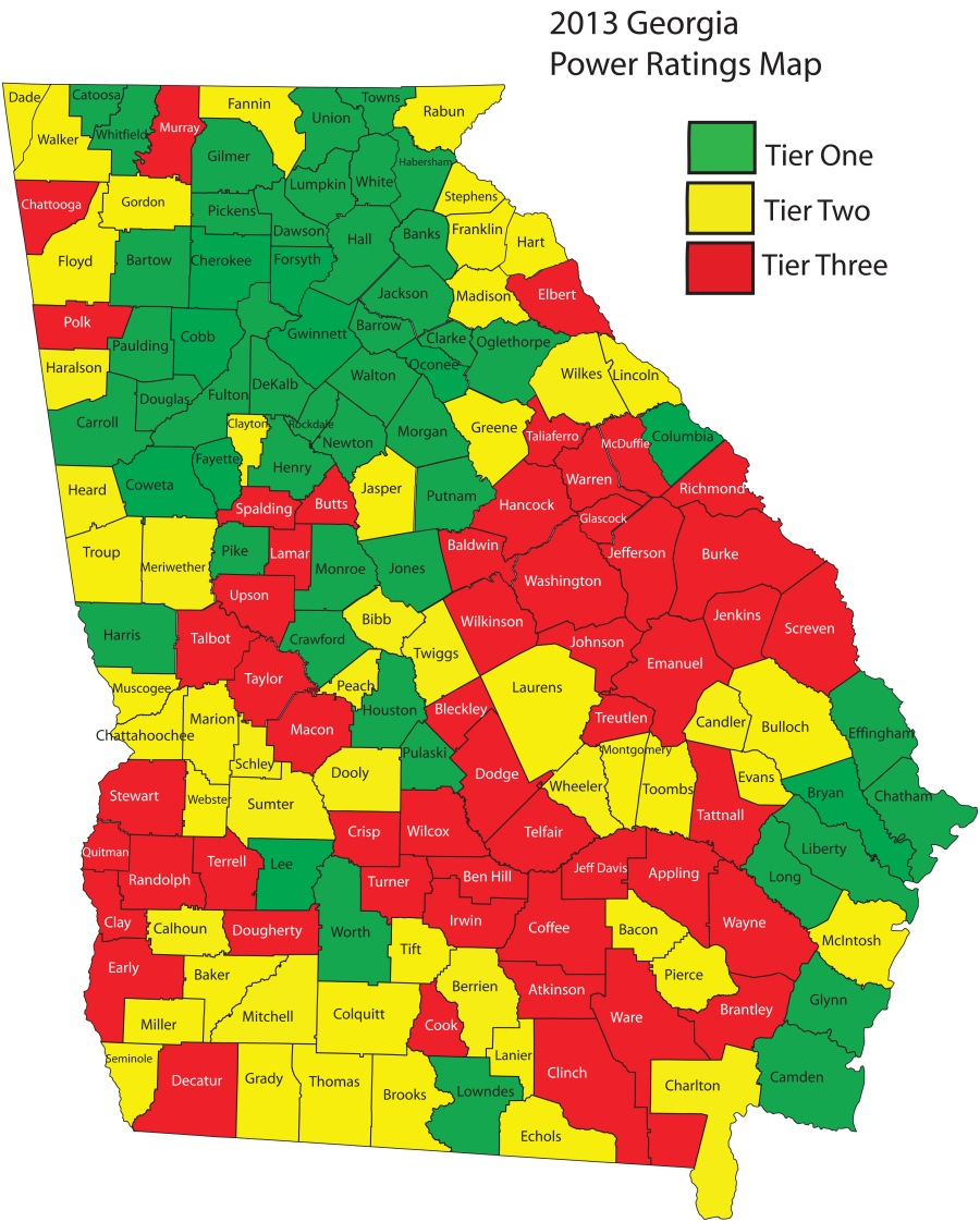 2013 Power Ratings Map