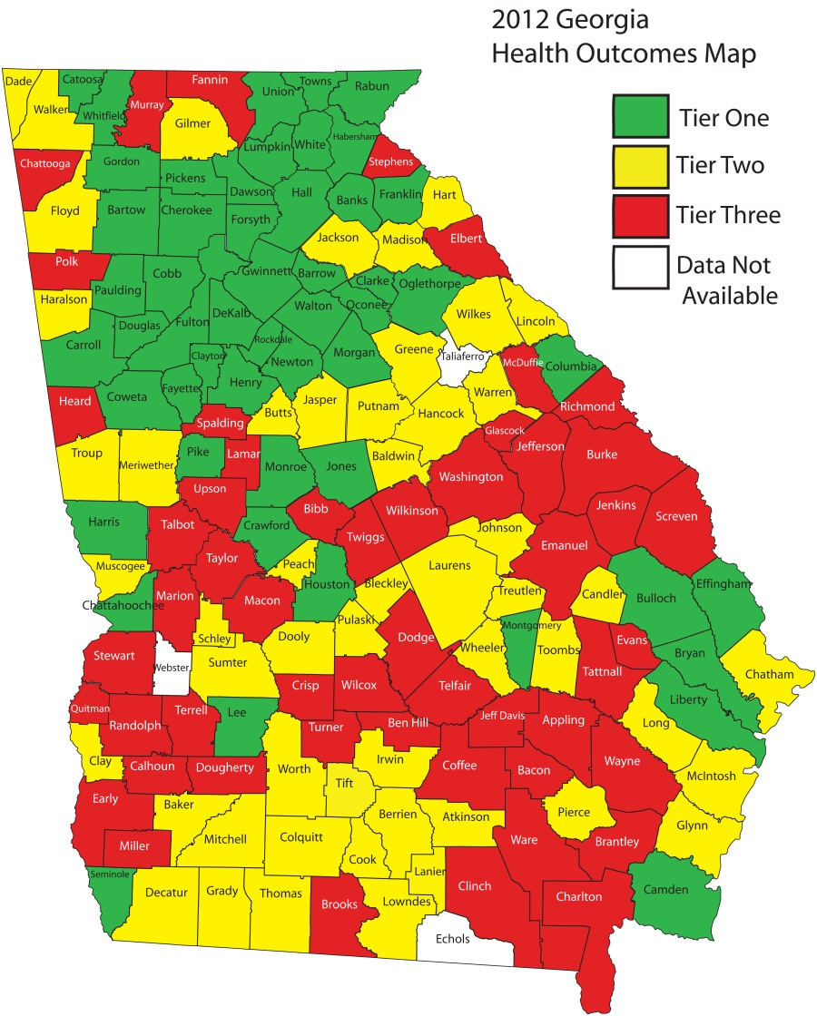 2012 Health Outcomes Map