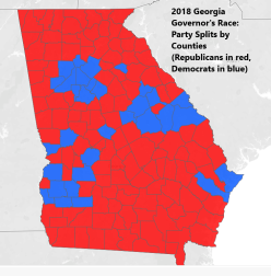 2018 Governor's Race Party Split