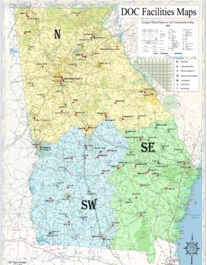 DOC Facilities Map